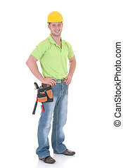 construction worker - Handsome young construction worker...