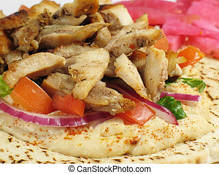 Delicious Chicken Ta - Shawarma style chicken tarna on a...