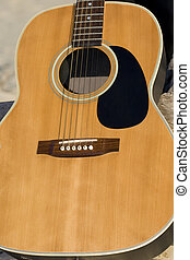 Guitar - Close up of a six string guitar
