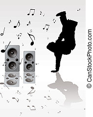 breakdance music - youth musical background image with a...