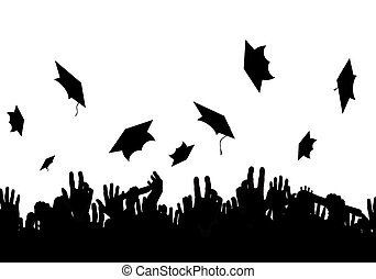 Graduate - Illustration of a crowd of graduates