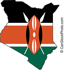 Map Kenya - Map and Flag from Kenya
