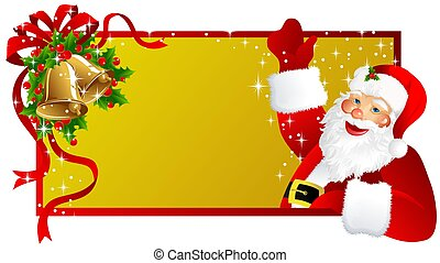 christmas label Santa Cla - christmas background with Santa...