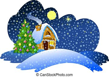 Christmas night scene