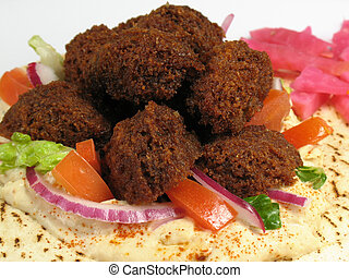 Delicious Falafels - A delicious portion of falafels served...
