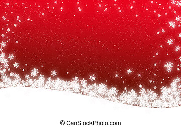 snow scene - large christmas snow scene with copy space