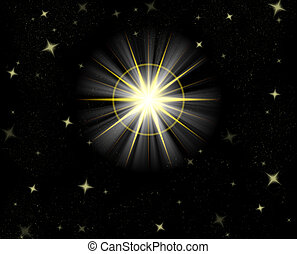 shining star - great big star flare or shining christmas...