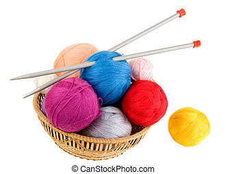 Yarn for knitting. Knitting at many people is a hobby