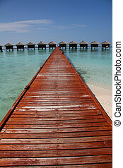 Water villas in Maldives, a place to rest