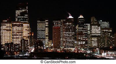Night skylight - City of Calgary at night