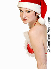 Sensual Christmas faerie - Beautiful girl dressed in a...