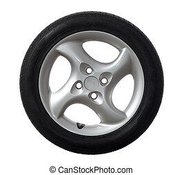 coche, rueda