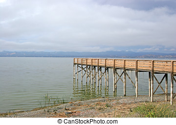 A pier by the lake.