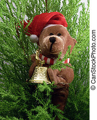Christmas eddy-bear - Christmas teddy-bear handing little...