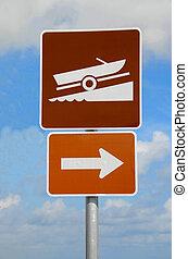 boat ramp sign