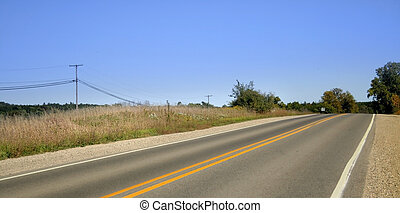 High Way - Scenic road through farms in Michigan\\\'s up...