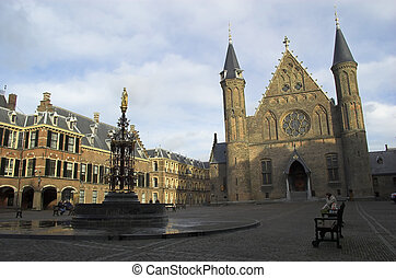 Buitenhof - historical parliment building in the Hague and...