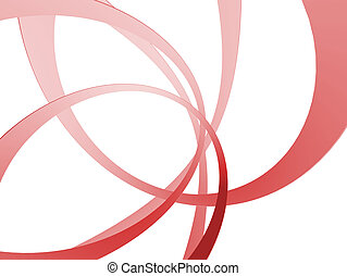 3d rings - 3d rendered illustration of abstract red rings