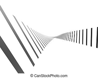 abstract lines - 3d rendered illustration of abstract black...