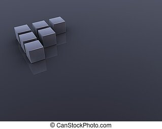 3d cubes - 3d rendered illustration of grey cubes on a grey...