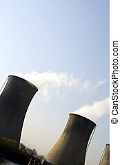 COOLING TOWER - power plant with cooling tower