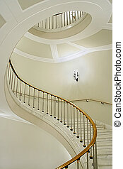 DNA - Stairwell in the Polish palace Royal castle in Warsaw...