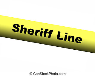 Sheriff line Yellow Barrier Tape