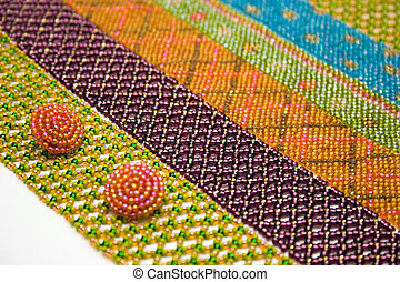 Needlework - needlework from multicolored beads