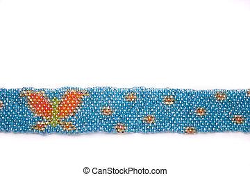 Needlework. - needlework from multicolored beads.