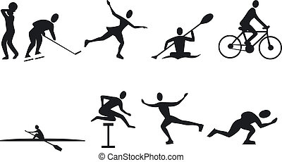 Athlete Silouettes - Illustration of Athlete Silouettes