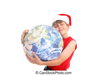 Xmas hugs around world - To all around the world a blessed...