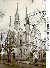 White cathedral - Beauty Neo - Gothic cathedral in Poland...