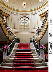 Stairwell in palace - Stairwell in the Polish palace An old...