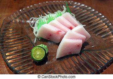 azul, Marlin, sashimi