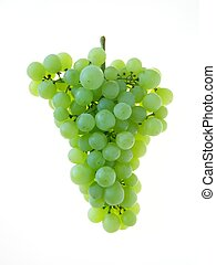 green grapes - Close-up of bunch of green grapes on white...