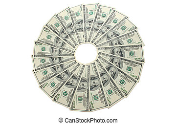 Money epicentre. Business topic - Epicentre. Circle of...
