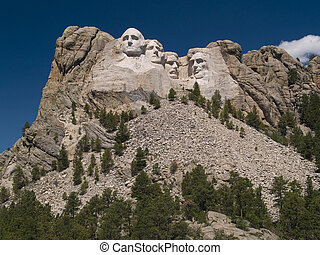 Mount Rushmore with Deep Sky - Mount Rushmore with a heavily...