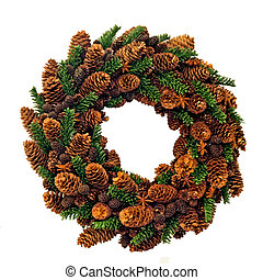 Christmas wreath - Traditional Christmas wreath made from...