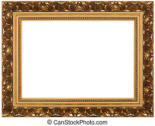 Frame for painting - Frame for painting, on a white...