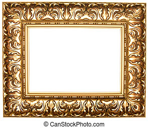 Frame for painting. - Frame for painting, on a white...