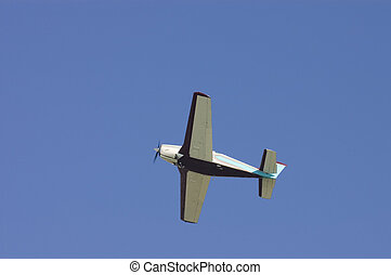 Small aircraft - Small private aircraft after takeoff with...