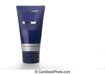 Moisturizer cream - Blank cosmetic container on a white...