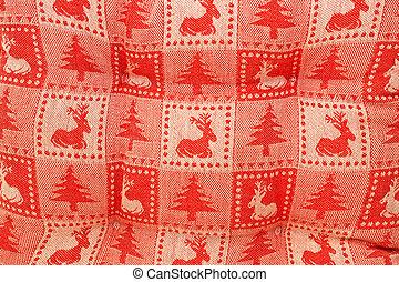 Christmas pattern - Close up shot of Christmas pattern...