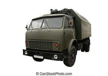 Military truck isolated. - Military truck isolated on white....