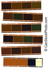 Photographic negative film strip for use as borders or...