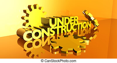 Under Construction - 3D Illustration. Isolated on white.