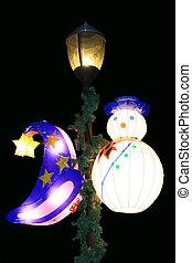 hat and snowman lanterns - wizard hat and snowman lanterns...