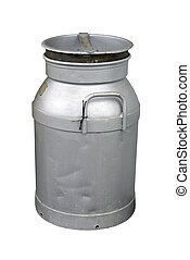 Old Milk Can - An Old Milk Can isolated with clipping path...