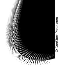 Bent feather - Abstract illustration of a feather