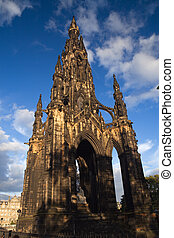 edinburgh monument - The Walter Scott monument in Princes...